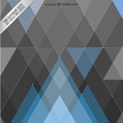 Blue and Black Geometrical Background Free Vector