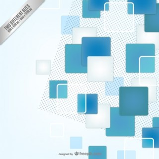 Blue and White Squares Background Free Vector