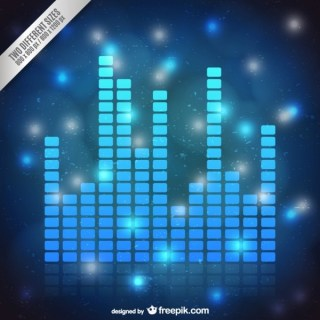 Blue Audio Bars Background Free Vector
