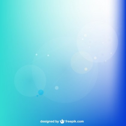 Blue Background with Sun Beam Free Vector