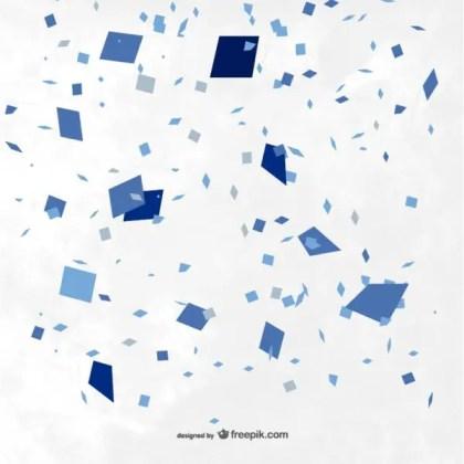 Blue Confetti Background Free Vector