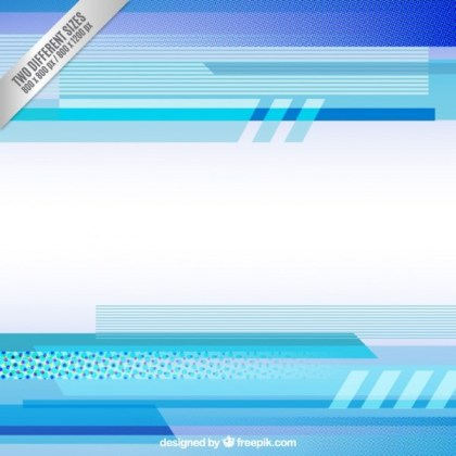 Blue Geometrical Shapes Background Free Vector