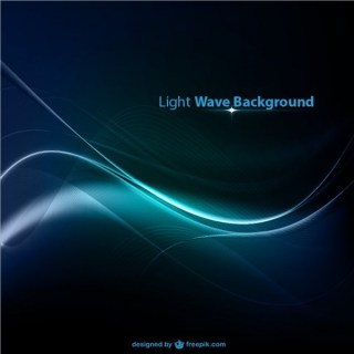 Blue Light Wave Background Free Vector