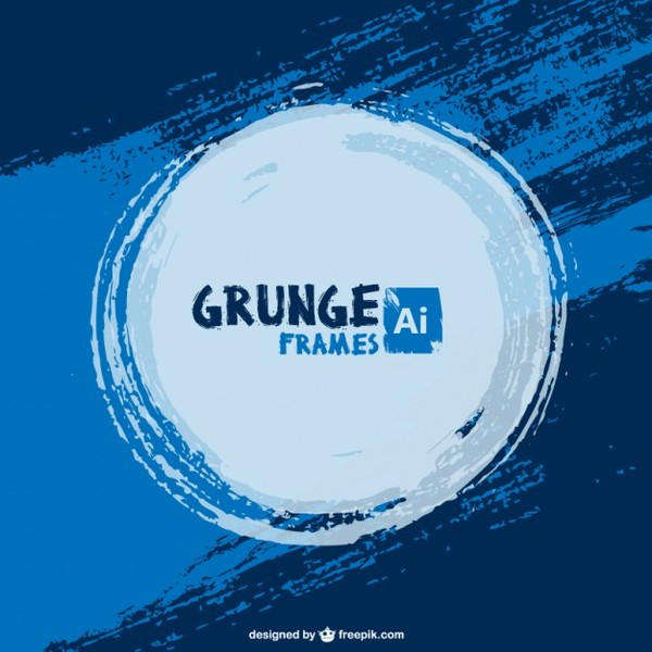 Blue Paint Grunge Background Free Vector