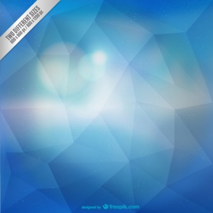Blue Polygonal Abstract Background Free Vector