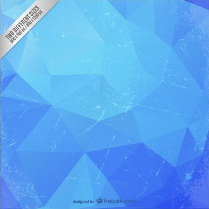 Blue Polygonal Background Free Vector