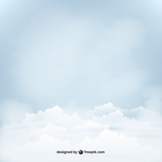 Blue Sky with Clouds Free Vector