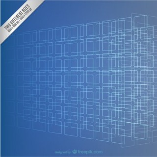Blue Squares Background Free Vector