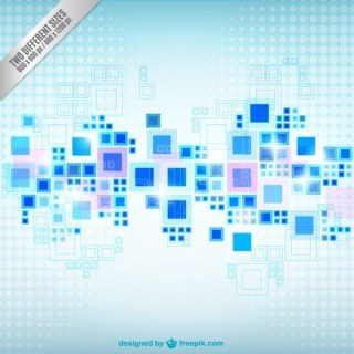 Blue Squares Geometrical Background Free Vector