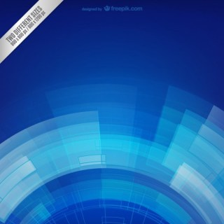Blue Techno Background Free Vector