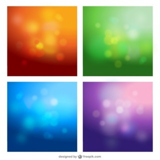 Blur Bokeh Backgrounds Free Vector