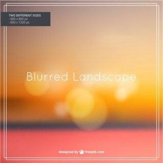 Blurred Autumn Landscape Free Vector