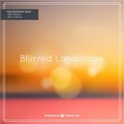 Blurred Autumn Landscape Free Vector