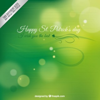 Blurred Background for Saint Patricks Day Free Vector