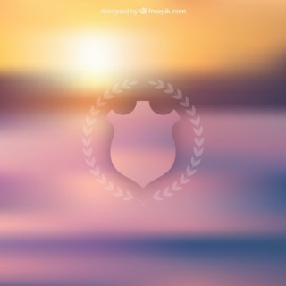 Blurred Background with A Shield Free Vector