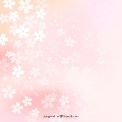 Blurred Cherry Blossoms Background Free Vector
