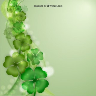 Blurred Clovers Background Free Vector