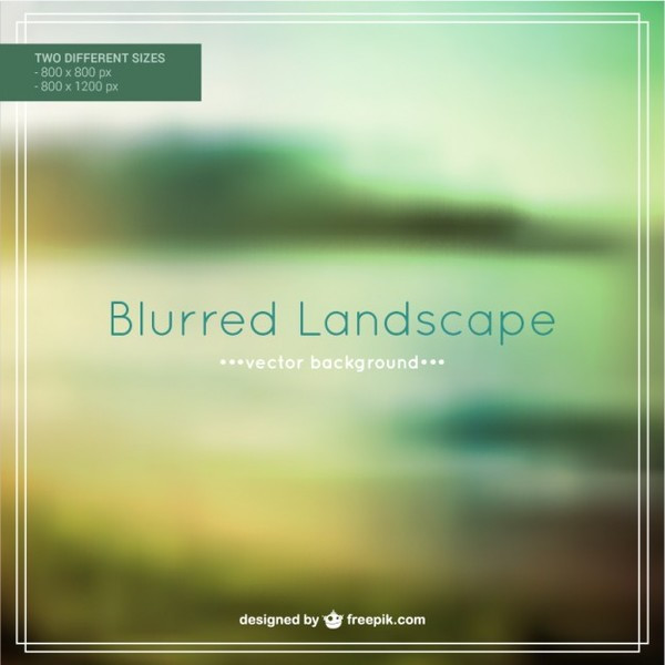 Blurred Landscape Free Vector