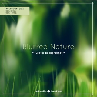 Blurred Nature Background Free Vector