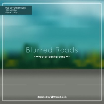 Blurred Roads Background Design Free Vector