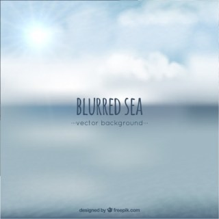 Blurred Sea Background Free Vector