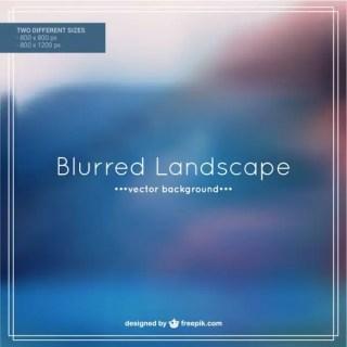 Blurred Sea Landscape Free Vector