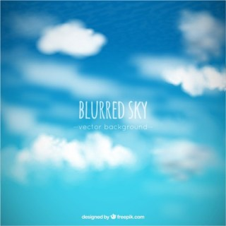 Blurred Sky and Clouds Background Free Vector