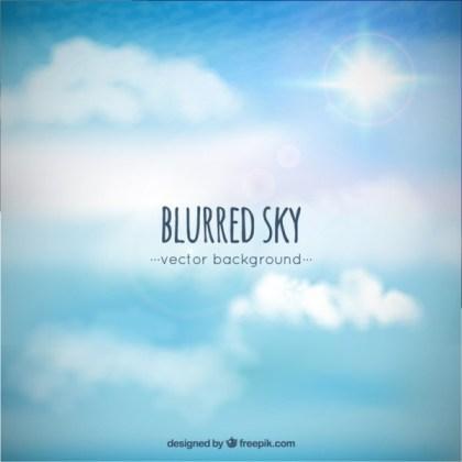 Blurred Sky Background Free Vector