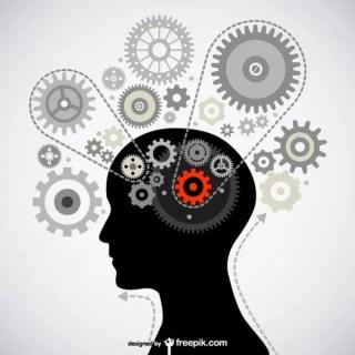 Brain Gear Free Vector