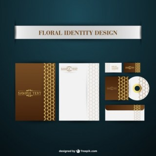 Brand Identity Floral Free Vector