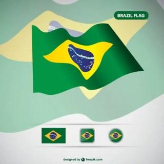 Brazil Flag Free Free Vector