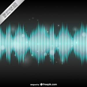 Bright Audio Wave Background Free Vector