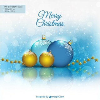 Bright Christmas Balls Free Vector
