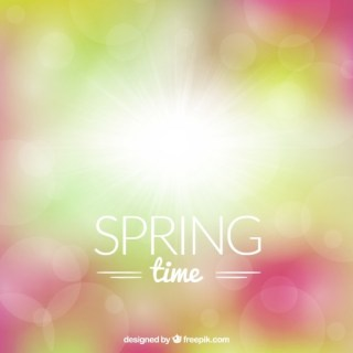 Bright Spring Background Free Vector