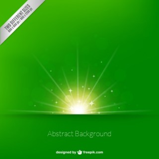 Bright Sunrise Background in Green Tone Free Vector