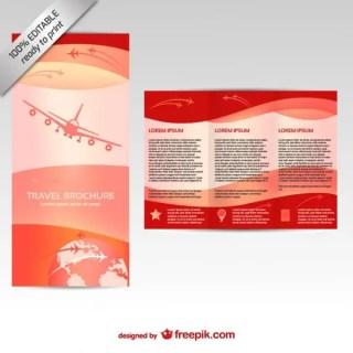 Brochure Editable Mock-Up Free Vector