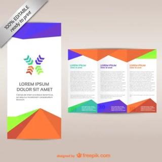 Brochure Editable Tri-Fold Design Free Vector