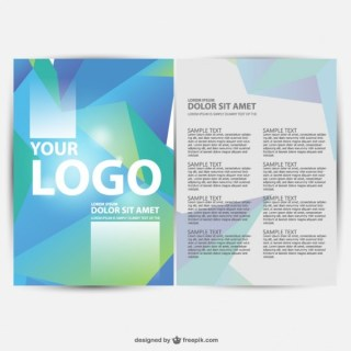Brochure Geometric Background Free Vector
