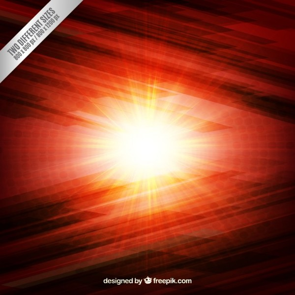 Burning Light Background Free Vector