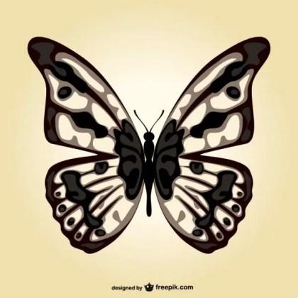 Butterfly Art Template Free Vector