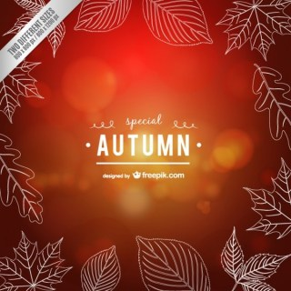 Calligraphic Autumn Free Vector