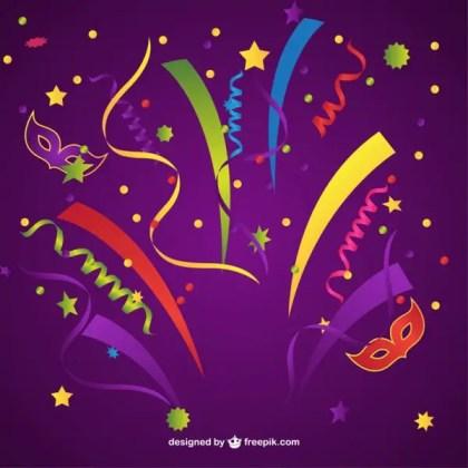 Carnival Confetti Free Vector