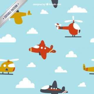 Cartoon Airplane Flying for Children Design Free Vector