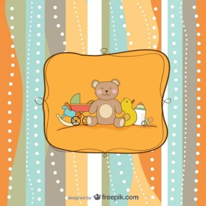 Cartoon Hand Painted Background  Free Vector