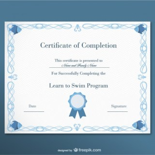 Certificate Free Template Free Vector