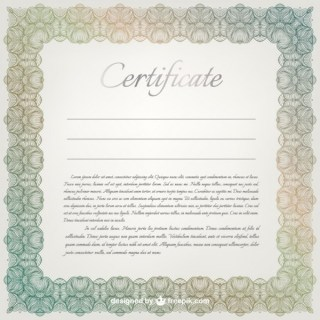 Certificate Template Free Vector