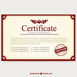 Certificate Template Layout Free Vector