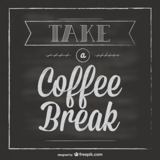 Chalkboard Coffee Break Free Vector
