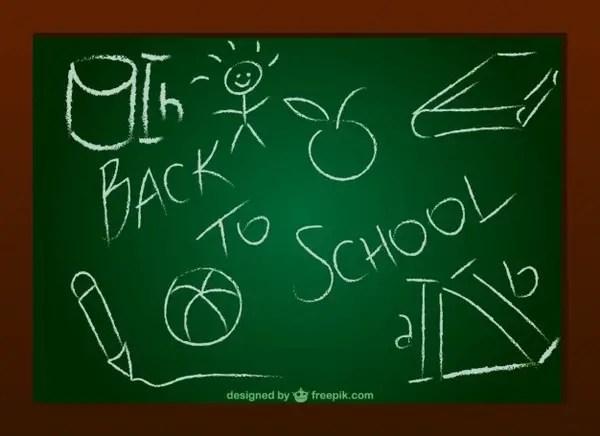 Chalkboard Doodle Free Vector