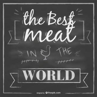 Chalkboard Meat Design Free Vector